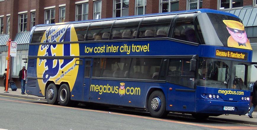 Megabus Neoplan Skyliner - Viajando barato pela Inglaterra