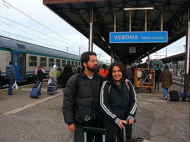 Estação de trem em Verona