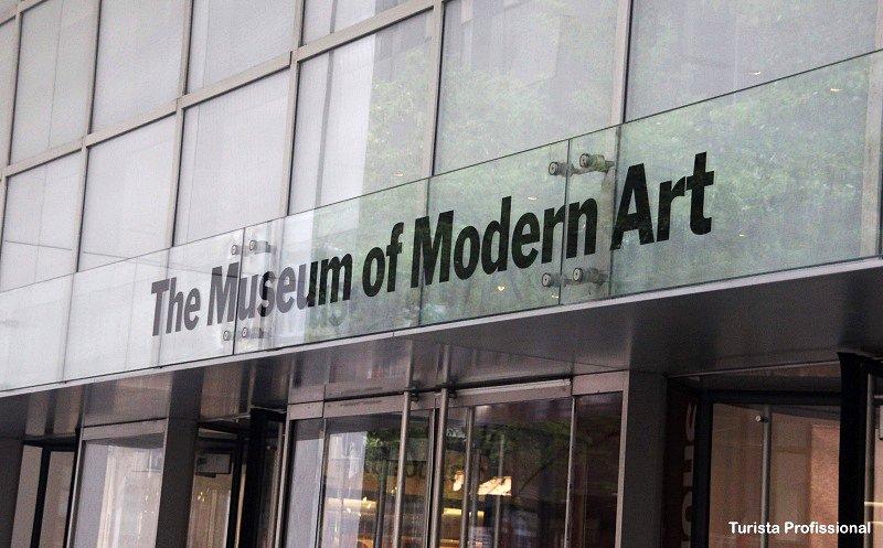 entrada do MoMA NY - MoMA de Nova York