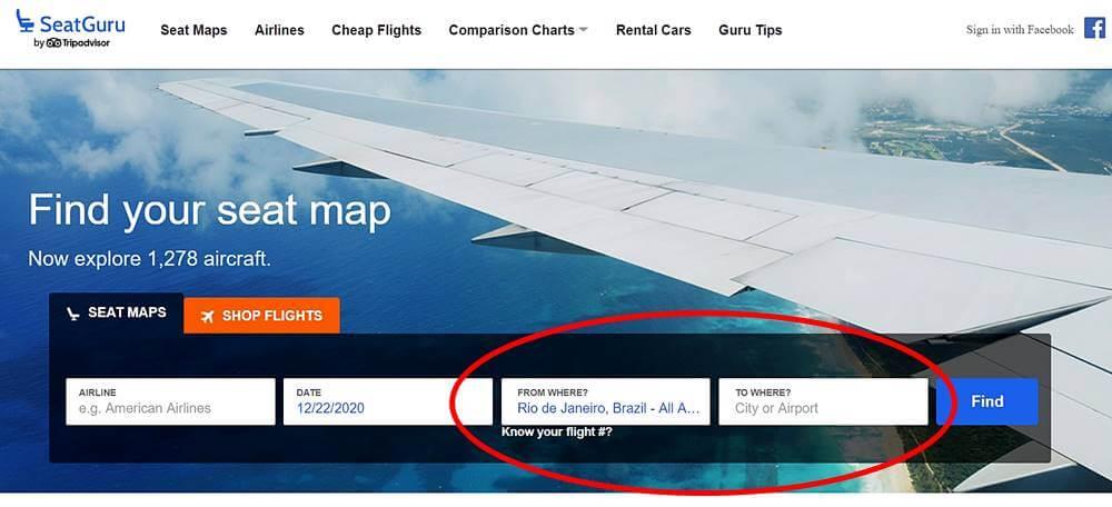 seat guru assento - Seat Guru: como escolher o melhor assento do avião