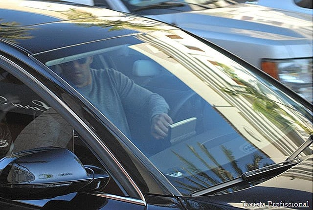 paparazzi em Los Angeles Jason Statham