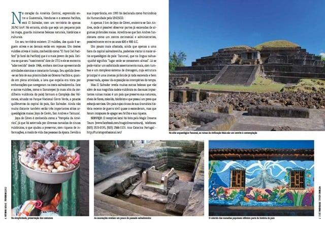 ElSalvadorrevista2 - Minha matéria sobre El Salvador na revista Vitrine Minas