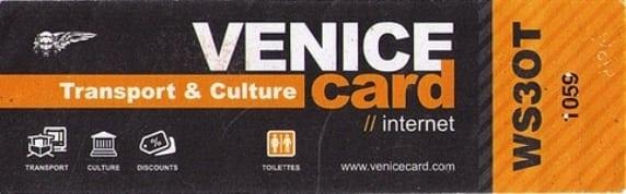 Venice card - Dicas de Veneza: tudo o que você precisa saber!