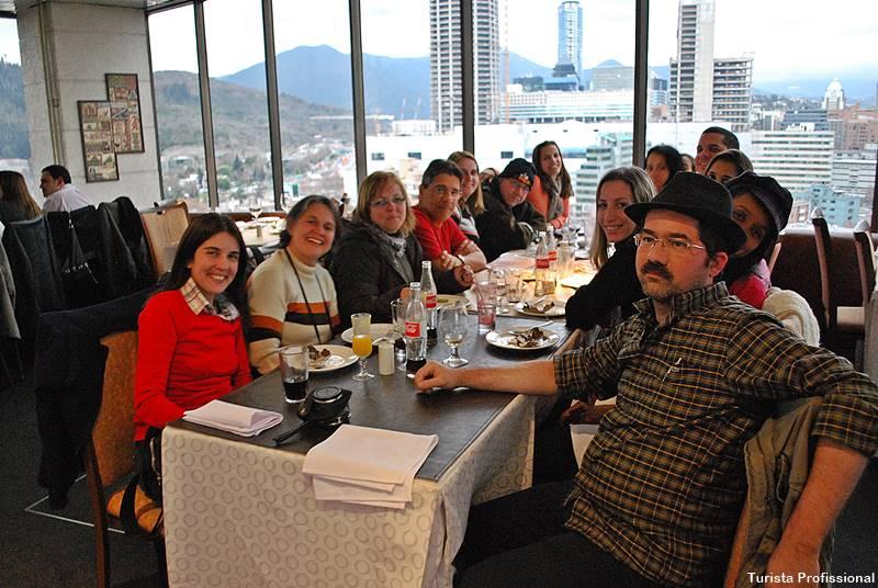restaurante giratorio santiago do Chile - Bairros de Santiago do Chile