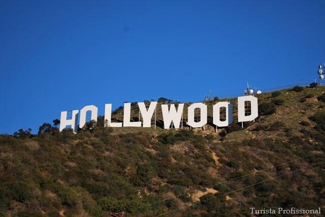 Como chegar às letras de Hollywood
