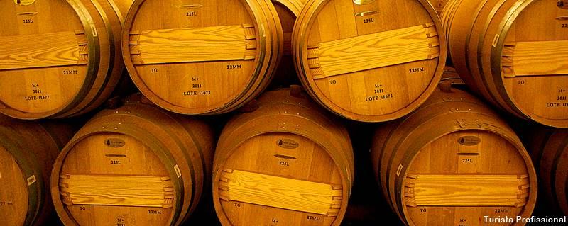 barris de vinhos chilenos Concha y Toro