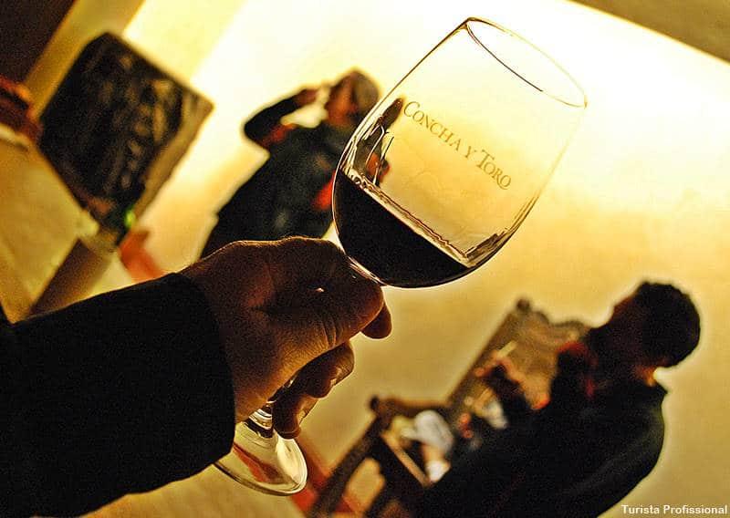 taça de vinho Concha y Toro