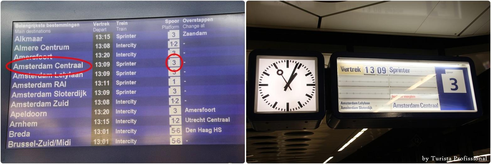 como ir do aeroporto até o centro de Amsterdam