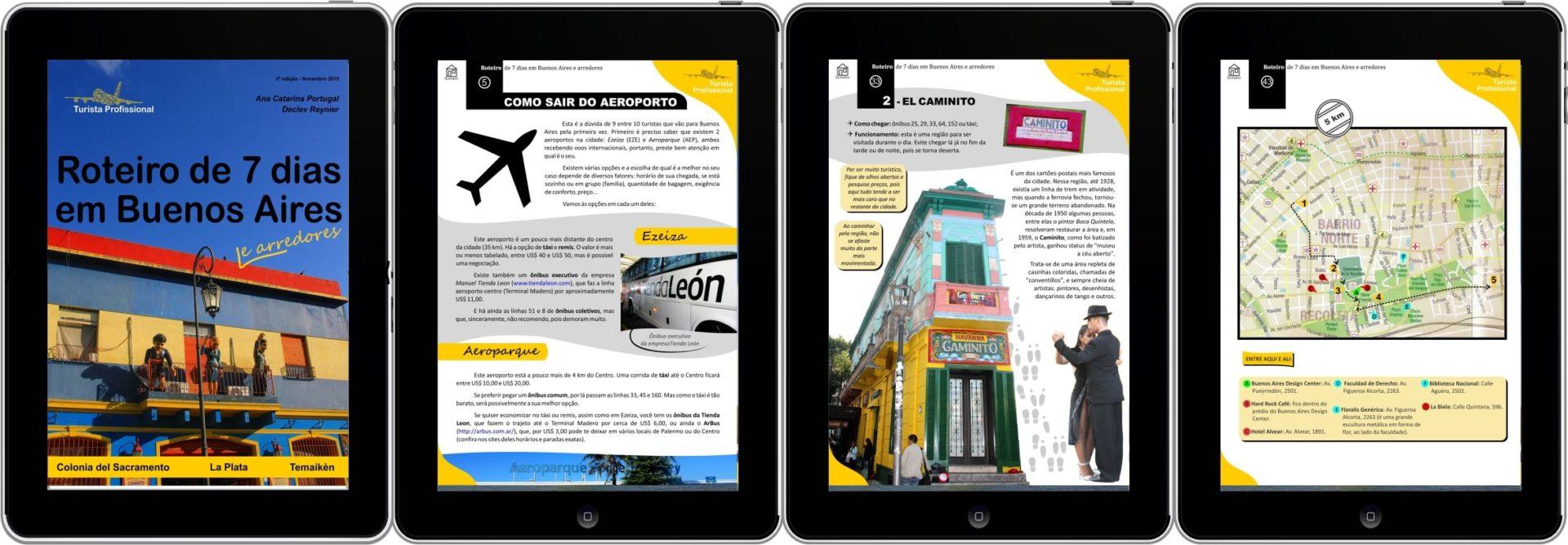 Buenos Aires 6 quatro tablets - Roteiro de 7 dias em Buenos Aires e arredores