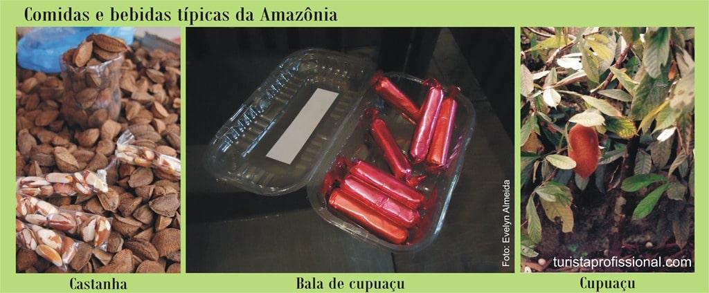 Manaus castanha bala cupuau - Bebidas e comidas típicas da Amazônia