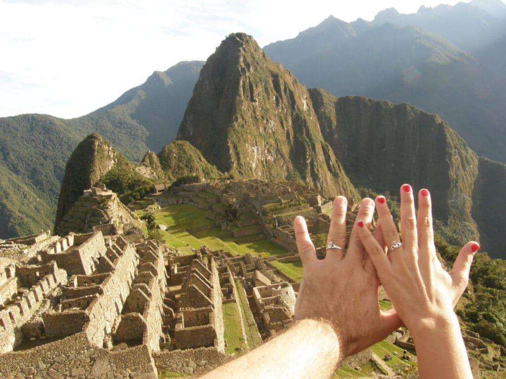 Juntos em Machu Picchu