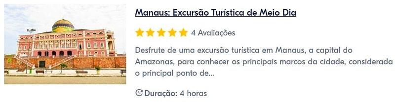passeio em Manaus com guia