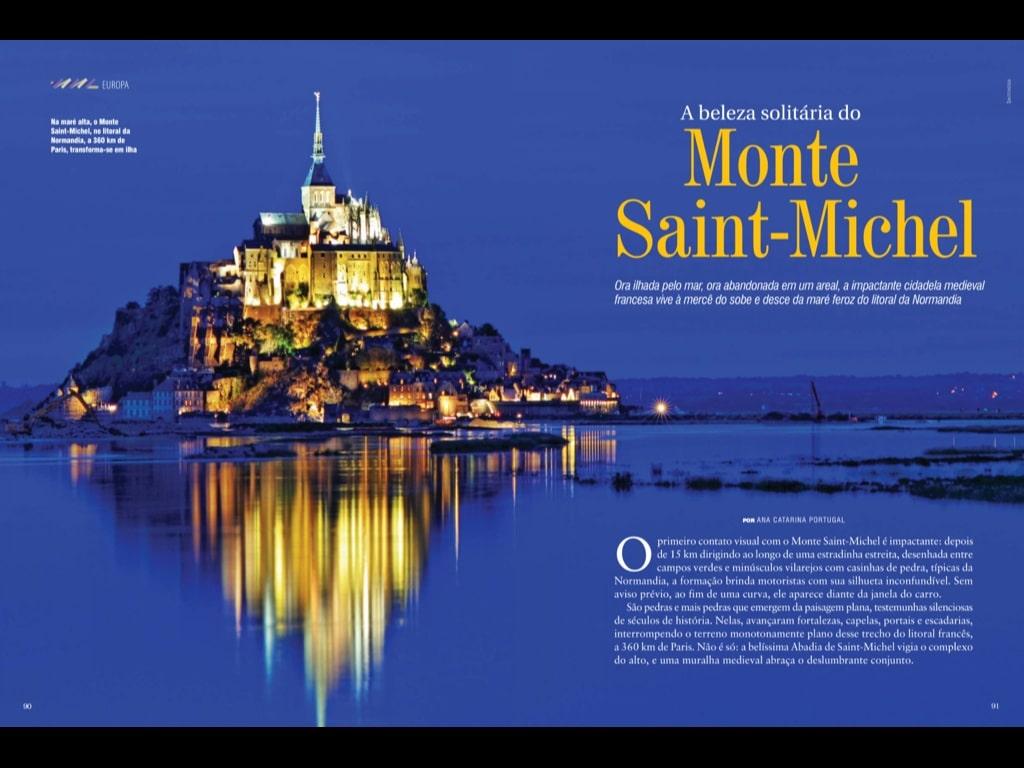 image - Minha matéria sobre o Monte Saint-Michel na revista Viaje Mais