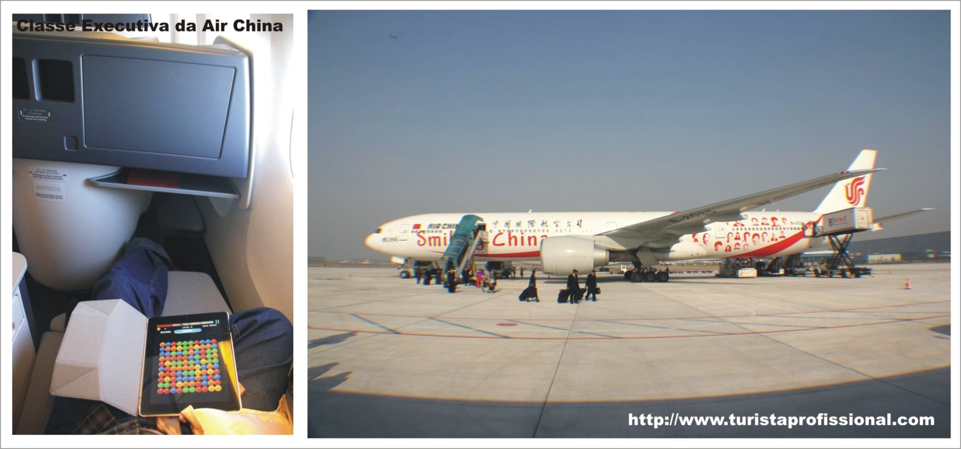 Classe Executiva Air China - avião