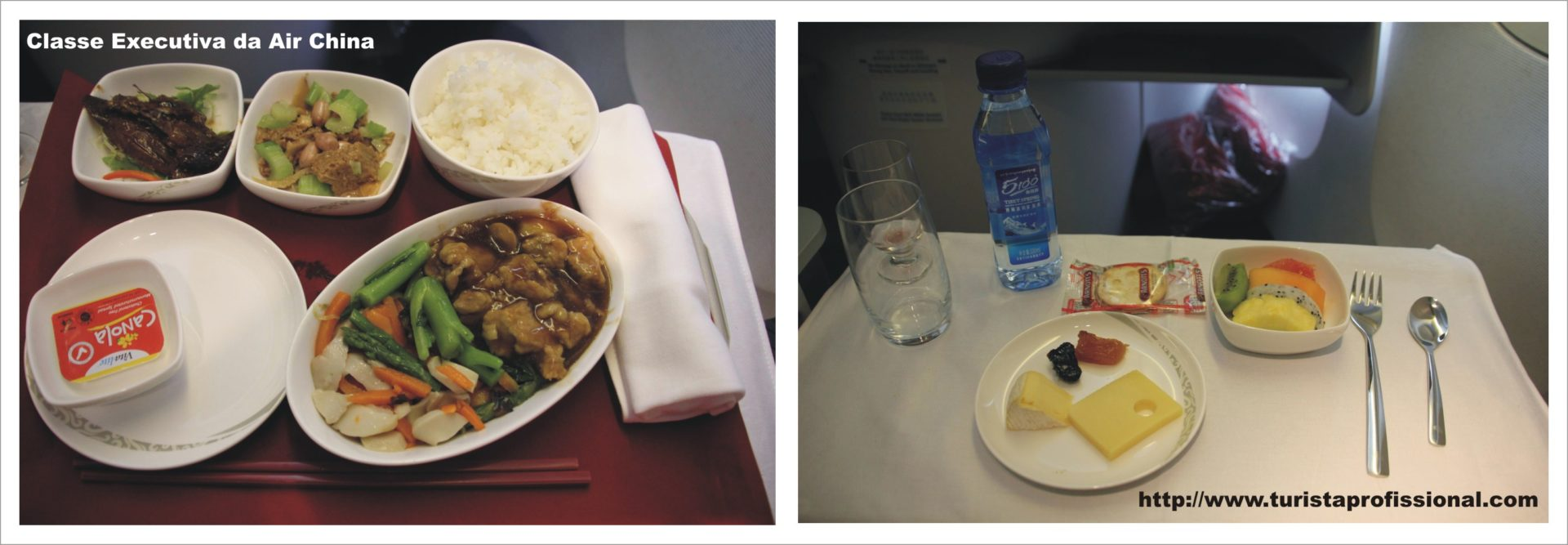 Classe Executiva Air China - comida