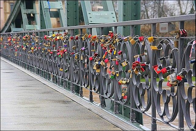 Cadeados em Frankfurt