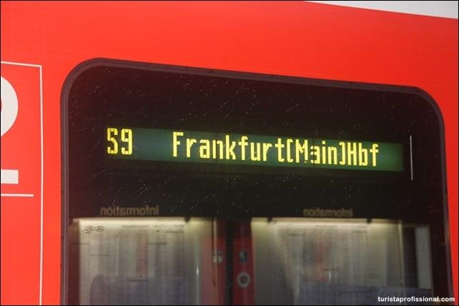 SBath - Como ir do aeroporto para o centro de Frankfurt