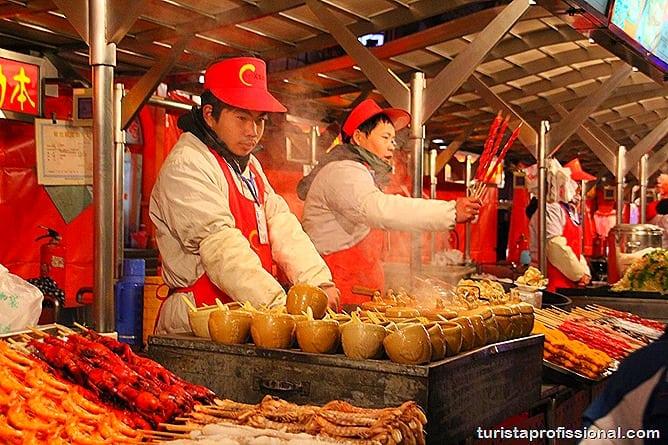 Pequim China 10 - O que fazer e o que comer em Pequim? Escorpião, lacraia, besouro?