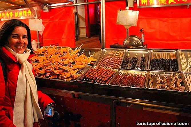 Pequim China 15 - O que fazer e o que comer em Pequim? Escorpião, lacraia, besouro?