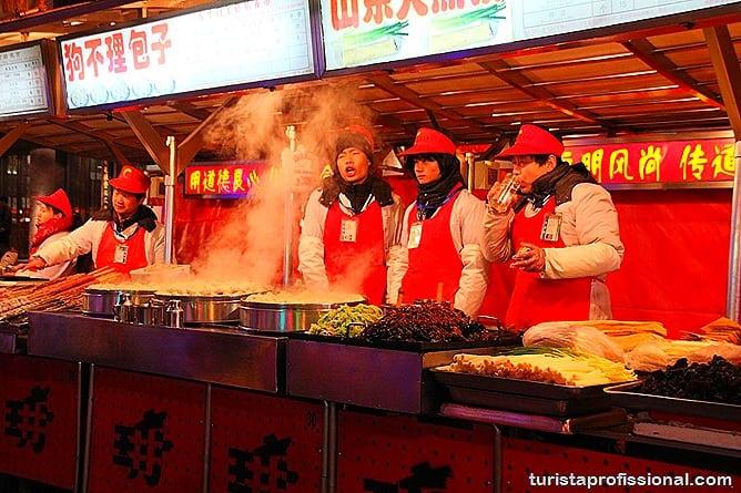 Pequim China 29 - O que fazer e o que comer em Pequim? Escorpião, lacraia, besouro?