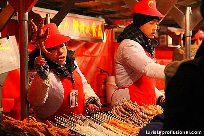 Pequim China 3 - O que fazer e o que comer em Pequim? Escorpião, lacraia, besouro?