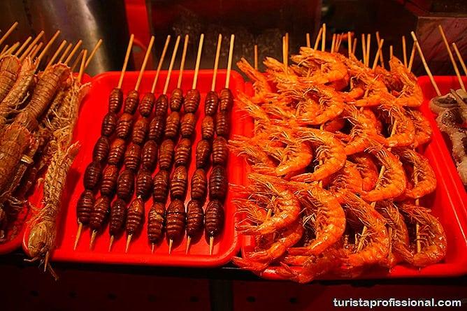 Pequim China 37 - O que fazer e o que comer em Pequim? Escorpião, lacraia, besouro?