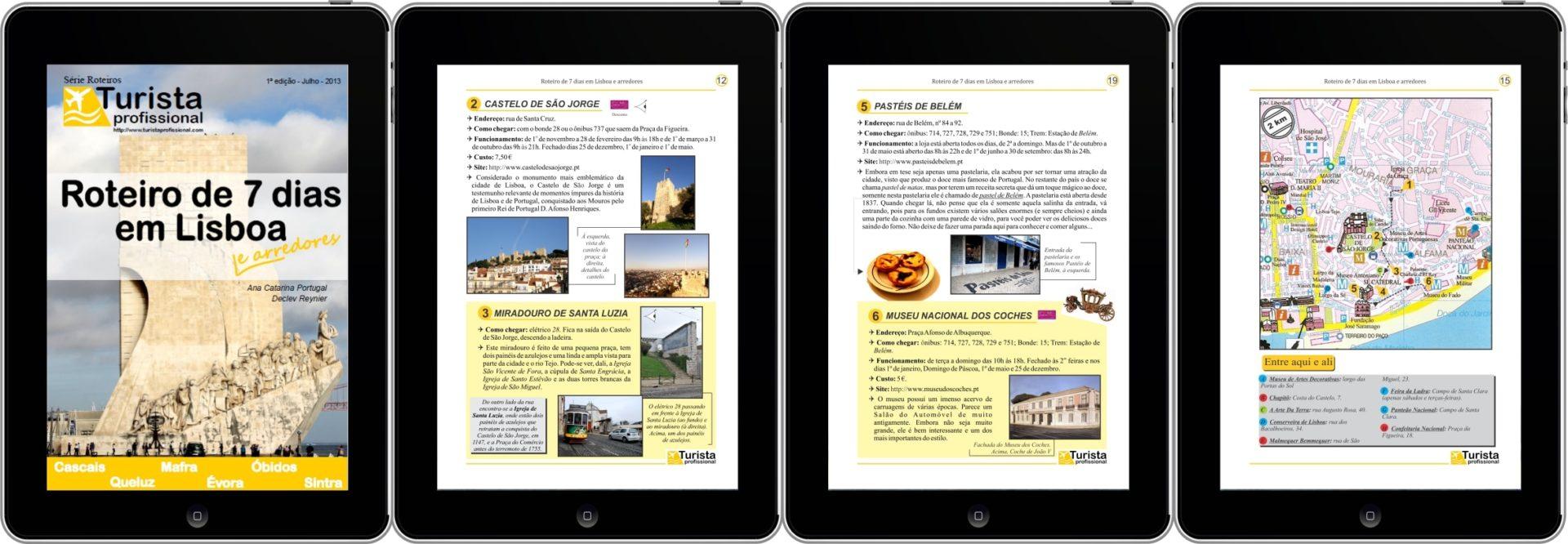 Lisboa 7 quatro tablets - Roteiro de 7 dias em Lisboa e arredores