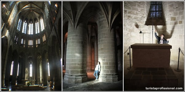 Interior da Abadia de Saint Michel