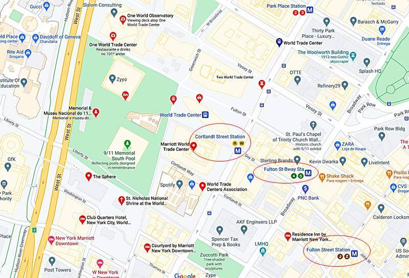 como chegar ao memorial 11 de setembro - Memorial 11 de Setembro em Nova York