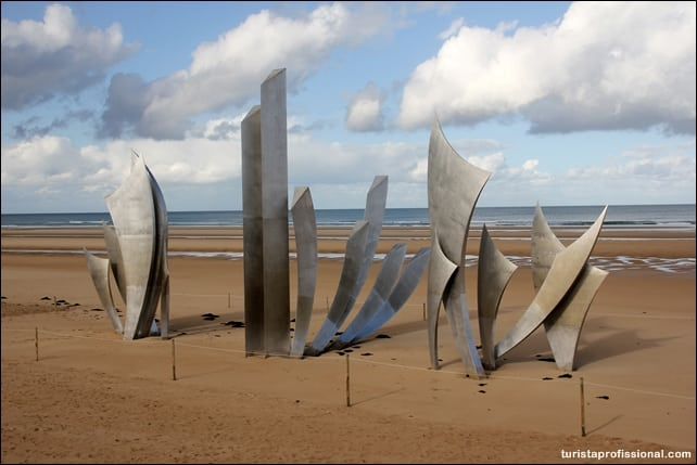 """dicas Normandia - Roteiro em Omaha Beach na França, a praia do """"dia D"""""""