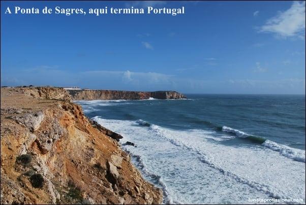 dicas Portugal - A Ponta de Sagres, aqui termina Portugal