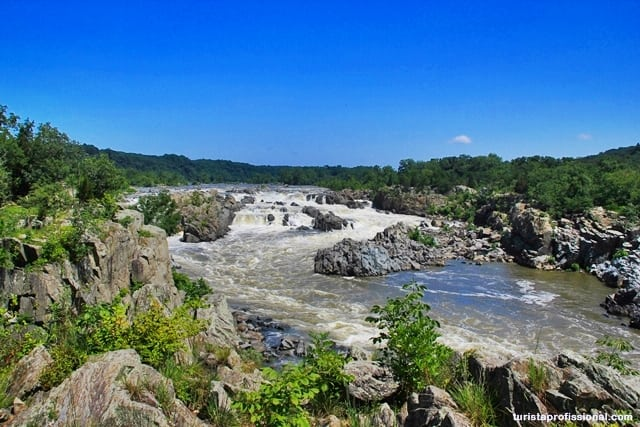 o que ver em Washigton - Great Falls Park: mini cataratas a 20 minutos de Washington DC