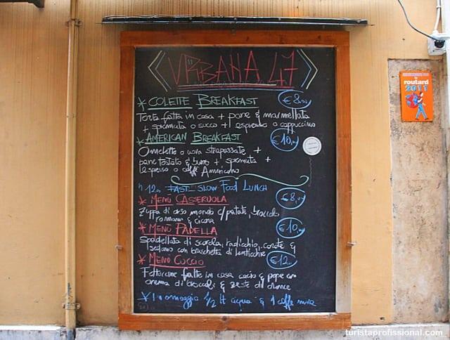 dicas Roma - Onde comer bem em Roma: dica de restaurante slow food