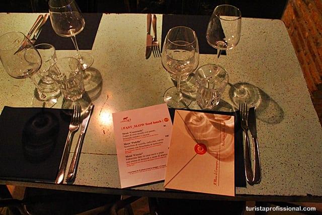 roteiro Roma - Onde comer bem em Roma: dica de restaurante slow food