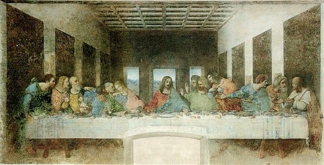 a última ceia - Onde visitar as obras de Leonardo da Vinci