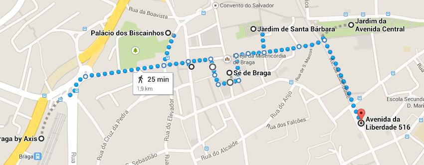 Mapa Braga - Roteiro de um dia em Braga, a Roma Portuguesa