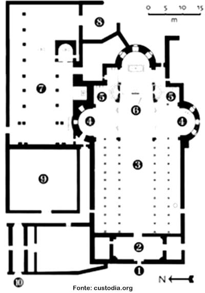 Mapa Igreja da Natividade