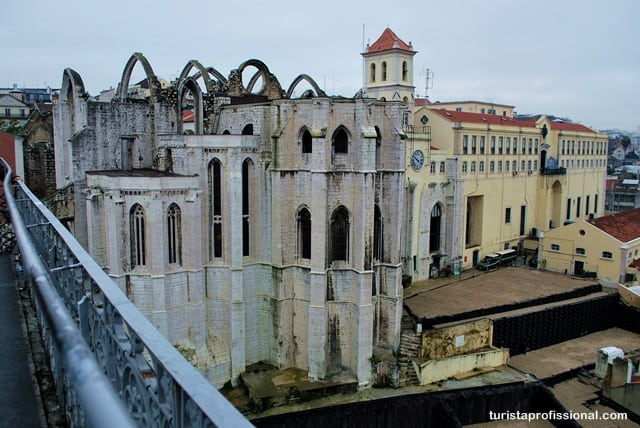 vista do Elevador de Santa Justa em Lisboa
