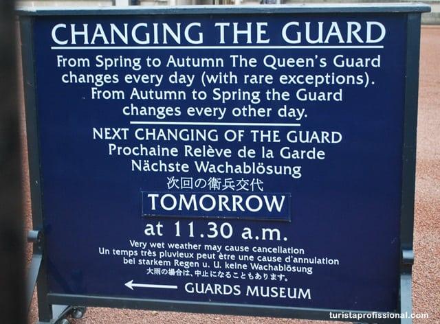 o que ver em Londres - Como assistir à Troca da Guarda do Palácio de Buckingham, Londres