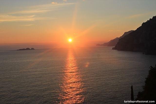 pôr do sol em capri - Roteiro de 10 dias pelo sul da Itália: Costa Amalfitana, Sicília e Roma