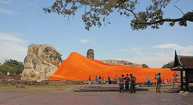 buda gigante tailândia - Visita à cidade histórica de Ayutthaya