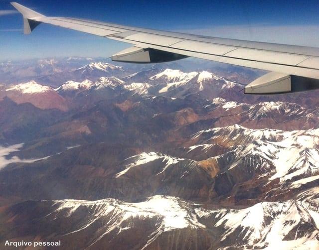 Vista aérea do Valle NEvado