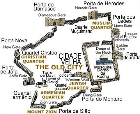 mapa de jerusalém - Visita à Basílica do Santo Sepulcro – Jerusalém