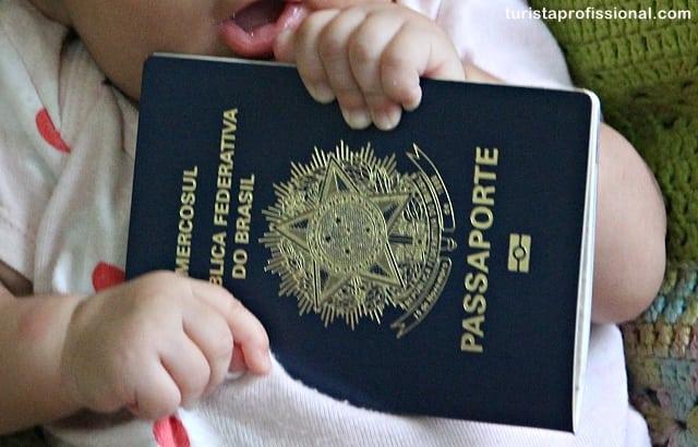 passaporte de bebê