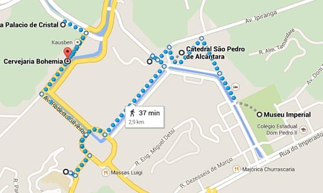 mapa petrópolis - Roteiro de 1 dia em Petrópolis (com mapa)