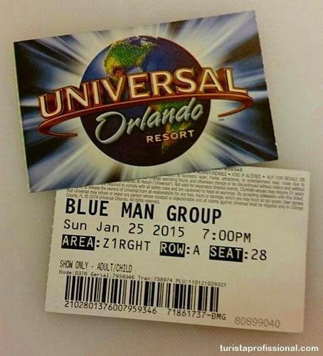 orlando dicas - Blue Man