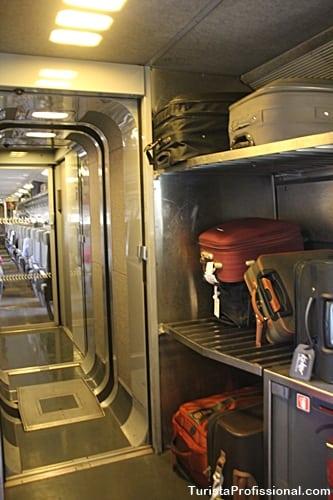 bagagem no trem
