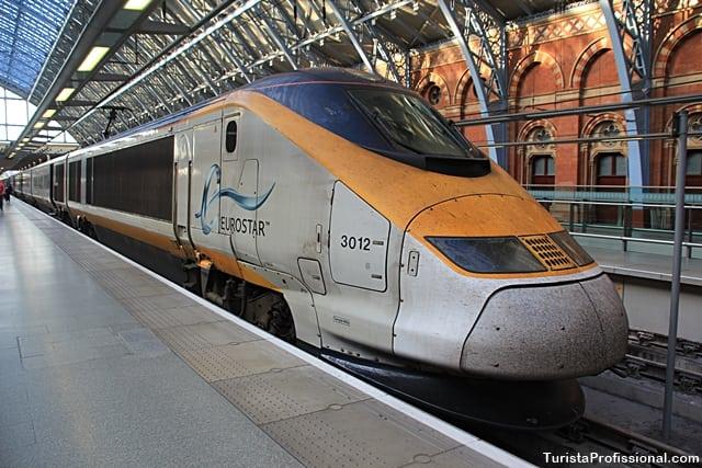 passagem de trem - Viagem de trem de Paris para Londres