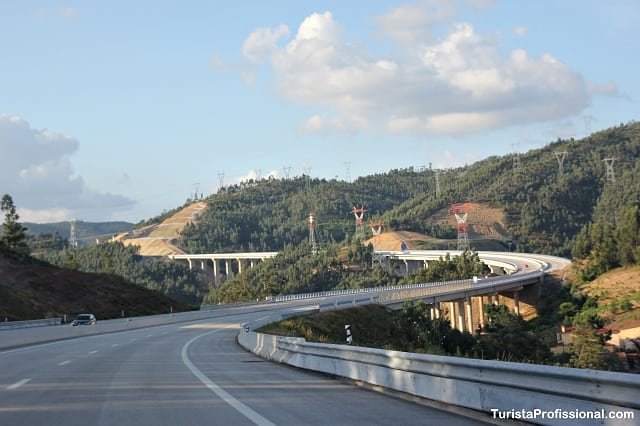 viagem de carro em Portugal