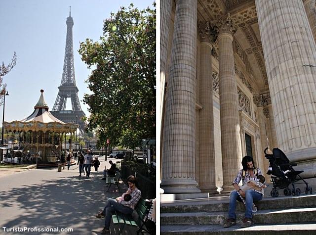 amamentando em Paris - Paris com bebê